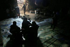 Syrians set up camp underground