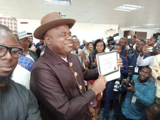 UPDATED: INEC declares PDP candidate, Diri, winner of Bayelsa guber election