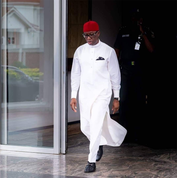 Okowa commiserates with Commissioners over husband's death