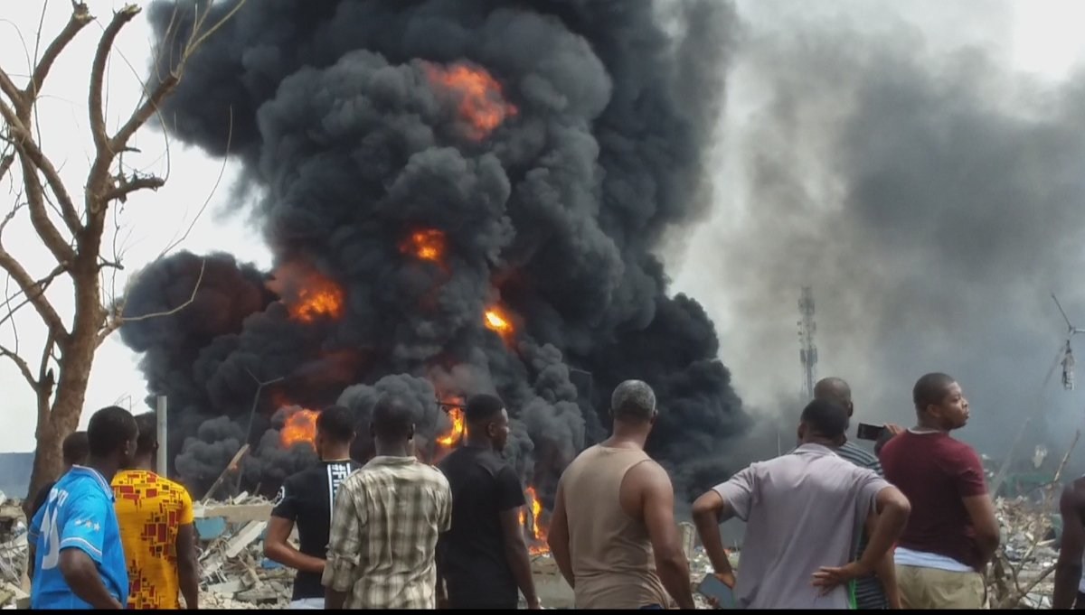 Image result for See Photo Of Newly Wedded Couple Who Died In Lagos Explosion