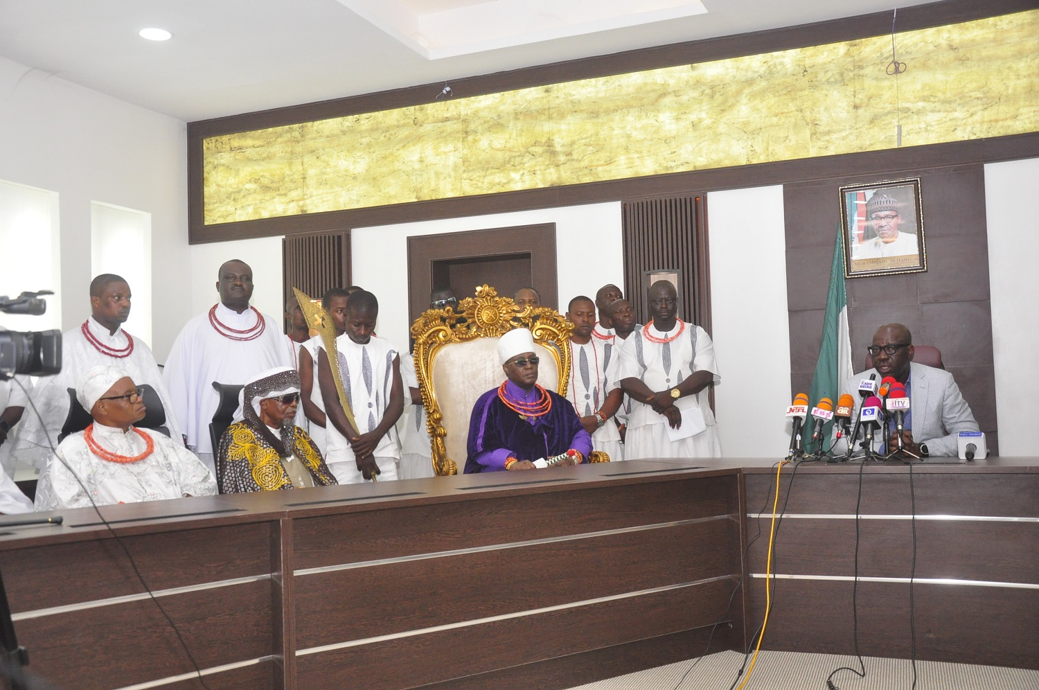 Coronavirus: Obaseki meets religious, traditional leaders, seeks collective action to ward off virus