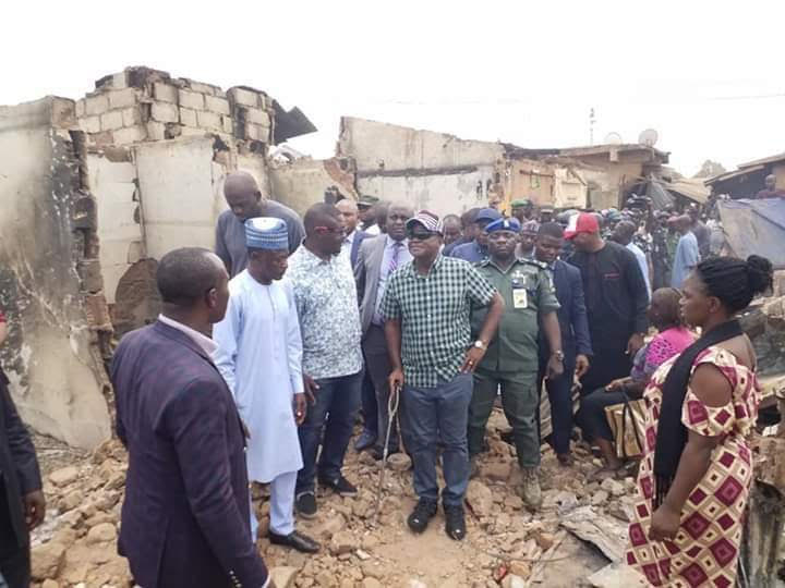 Ortom donates N50m to victims of Otukpo Main Market fire disaster