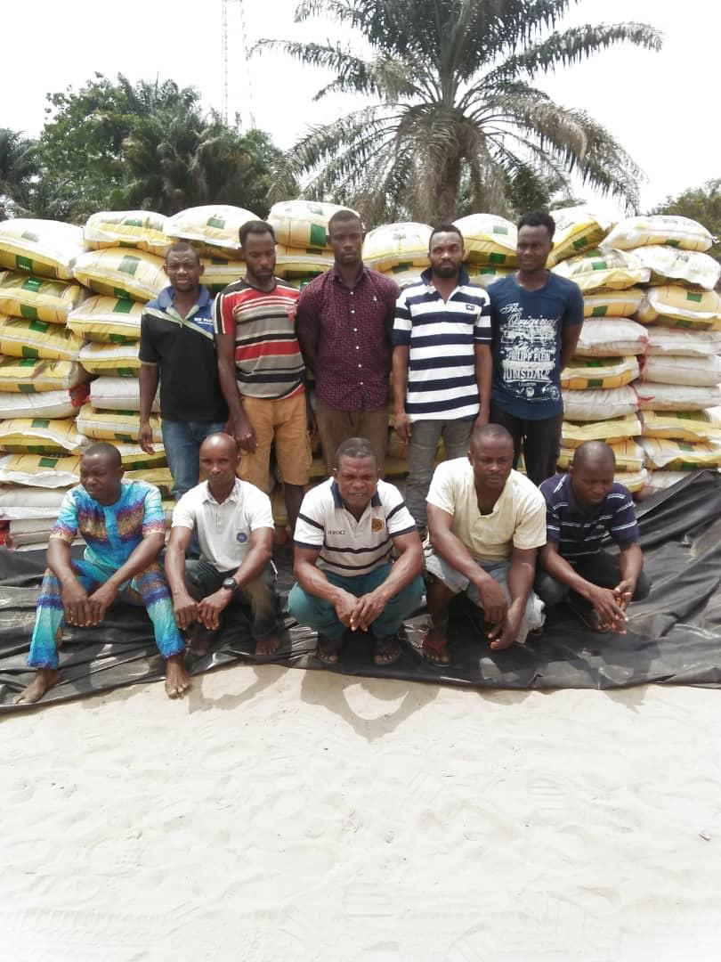 Navy intercepts 956 bags of smuggled rice in A-Ibom