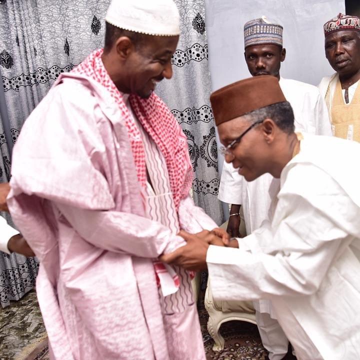 Gov El-Rufai visits Sanusi Lamido in Nasarawa