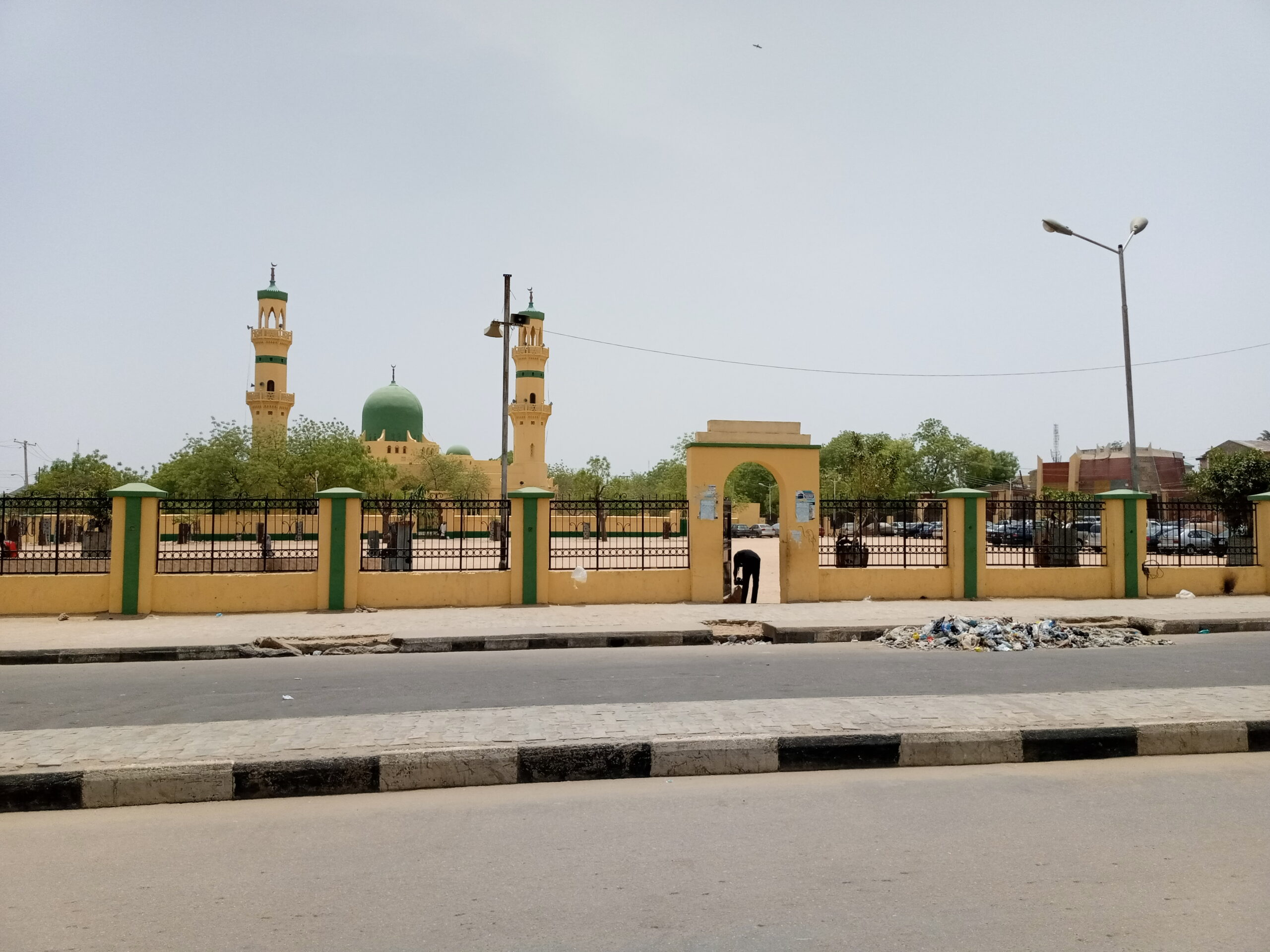Kano Central Mosque empty on Friday