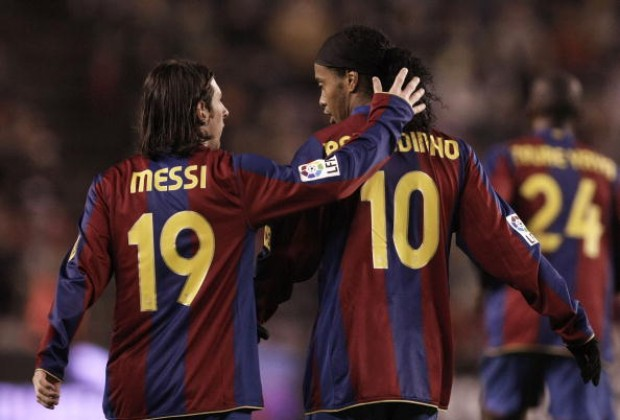 Messi denies paying for Ronaldinho's bail, Inter link