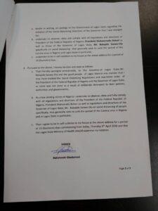 Babatunde Gbadamosi's apology letter