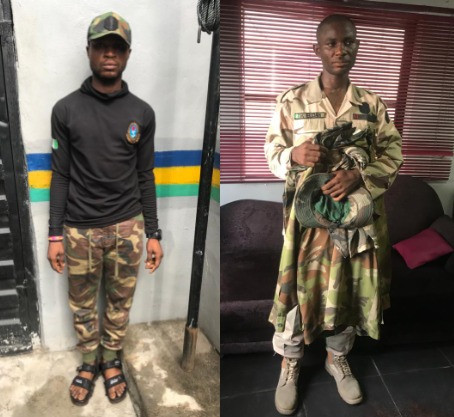 Two fake soldiers arrested over murder of policeman in Lagos Police station