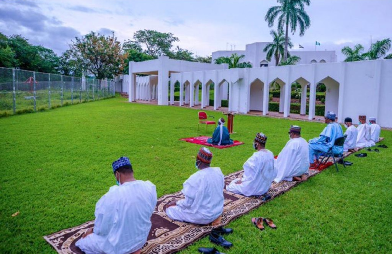 Eid-el-Fitr: Buhari, family members observe Eid prayers at home