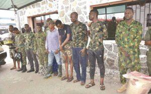 Fake Lt. Col, Major, 39 others arrested in Lagos, Ogun