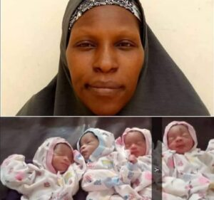 Driver's wife gives birth to quadruplets in Kaduna