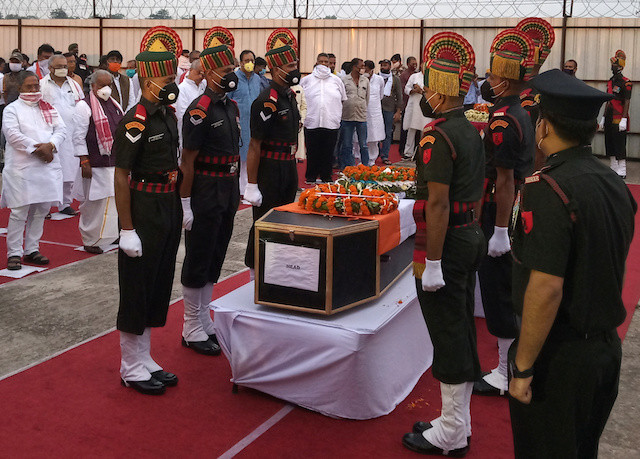 India holds funerals for soldiers killed in China border clash as tensions stay high