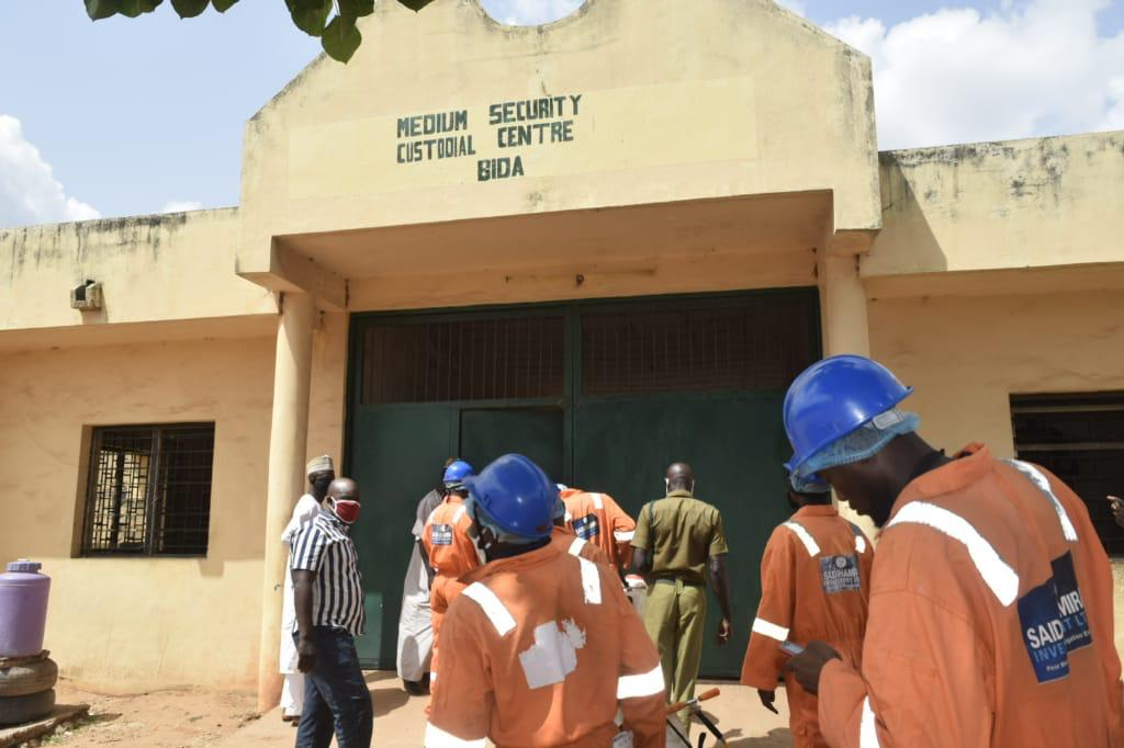 Photos: Niger state disinfect prisons