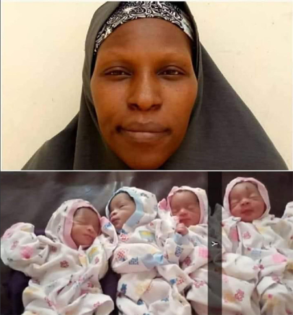 Driver's wife who gave birth to triplets twice, twins twice, gives birth to quadruplets