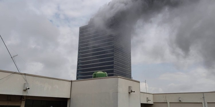JUST IN: Fire guts Abuja's World Trade Centre