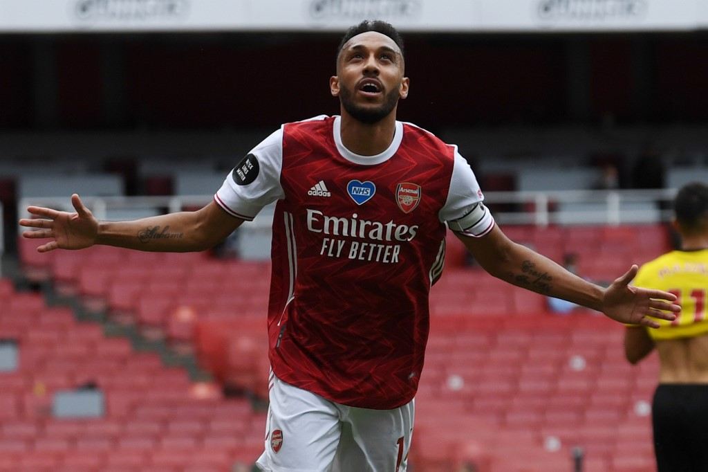 Arsenal's Aubameyang hails medics after recovery from malaria