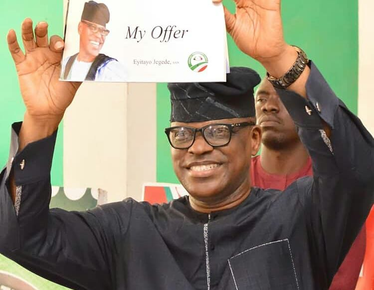 Ondo guber: Group urges PDP NWC to support Jegede