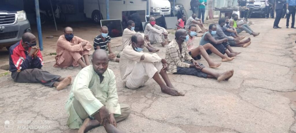 Kaduna Police parade 217 kidnappers, bandits, robbers