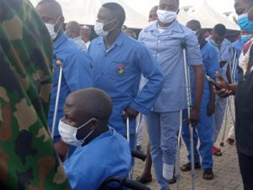 Buratai visits, dines with wounded officers in Kaduna hospital