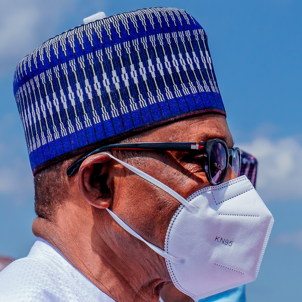See photos of Buhari wearing face mask as he visits Mali for Peace Mission