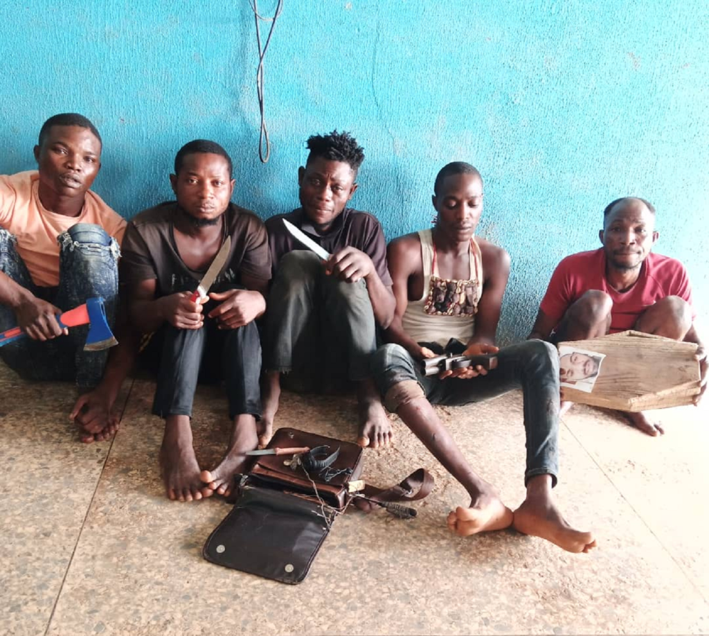 Police arrest five robbery suspects terrorising Ogun community - Vanguard