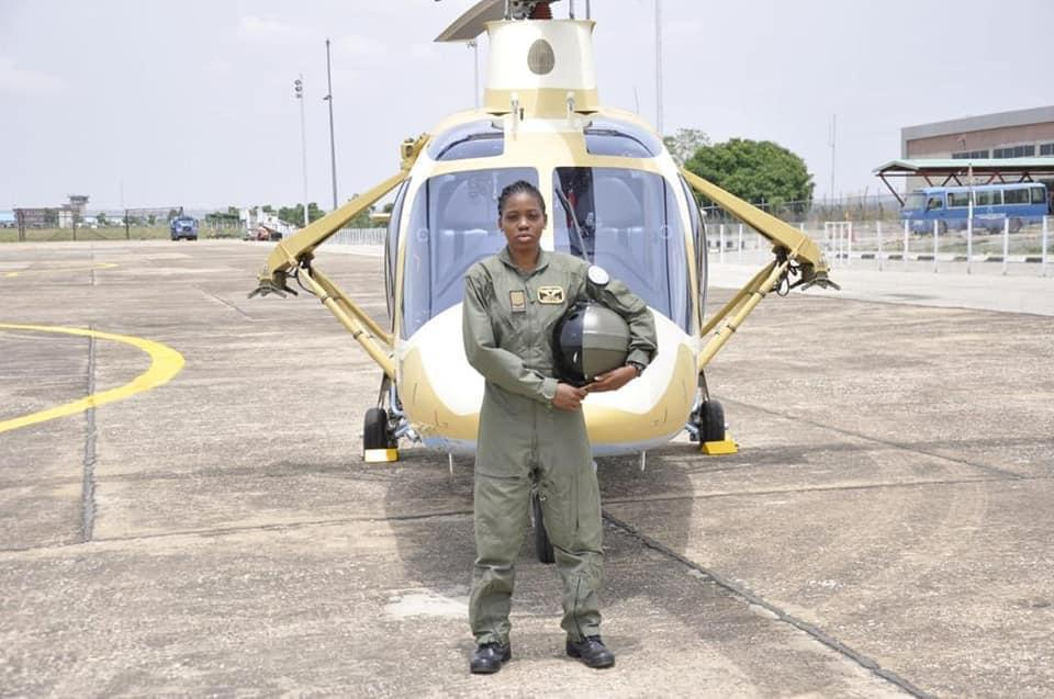 Photos of late first fighter helicopter pilot in Nigeria, Tolulope Arotile in service