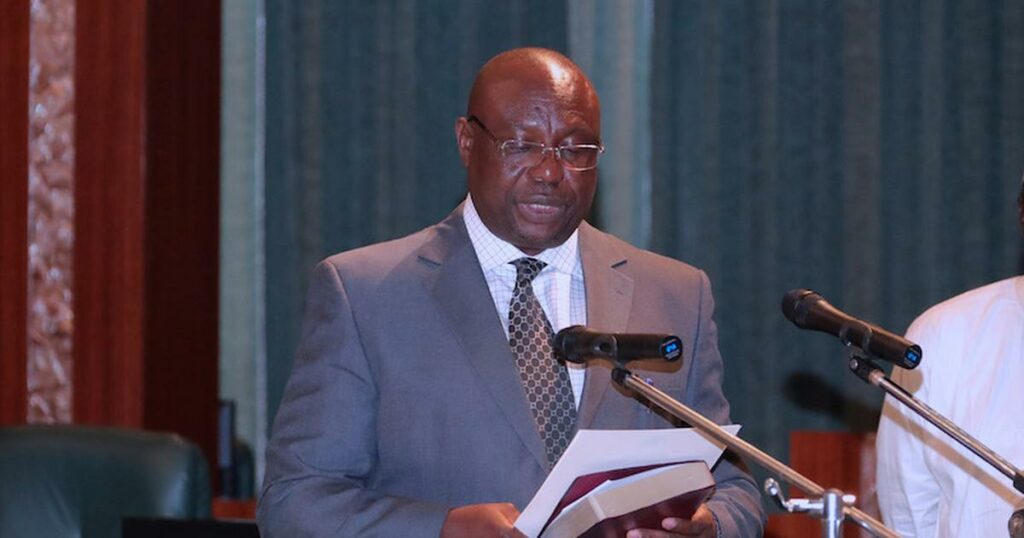 Mr Festus Okoye, INEC National Commissioner and Chairman