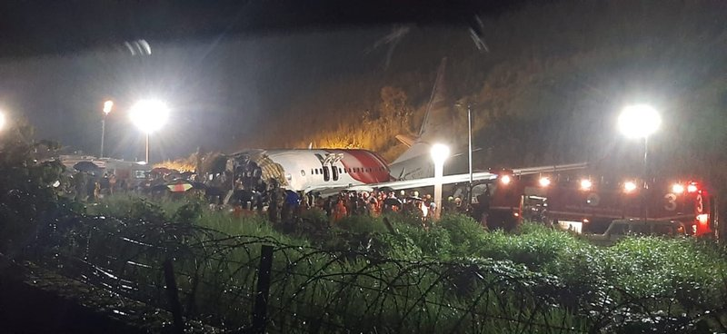 Plane skids off runway in India; 16 killed, dozens hurt