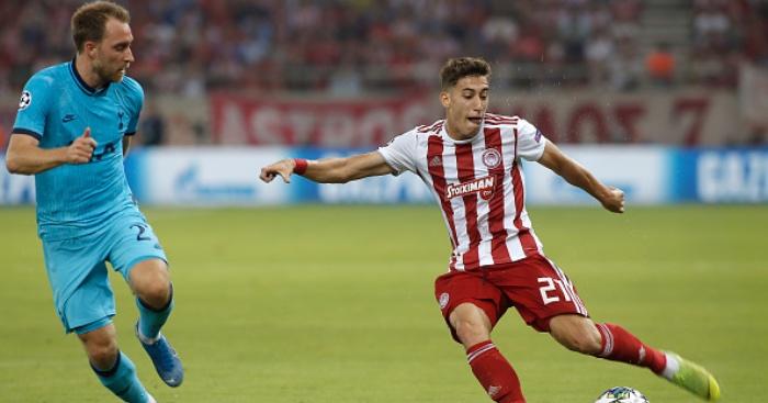 Liverpool bid for Olympiakos defender Konstantinos Tsimikas