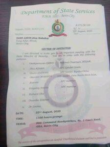 Edo 2020: DSS invites 10 APC chieftains