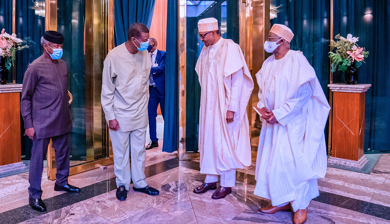 Buhari, Adeboye meet in Aso Rock