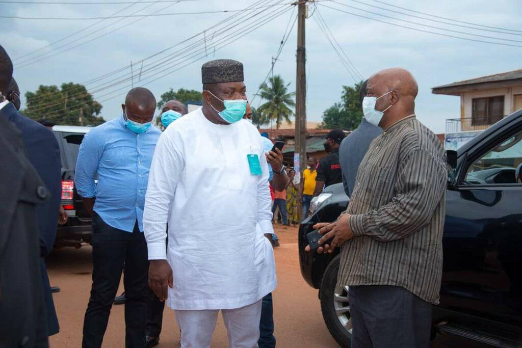 Ugwuanyi visits IPOB, security clash scene, assures return to norm