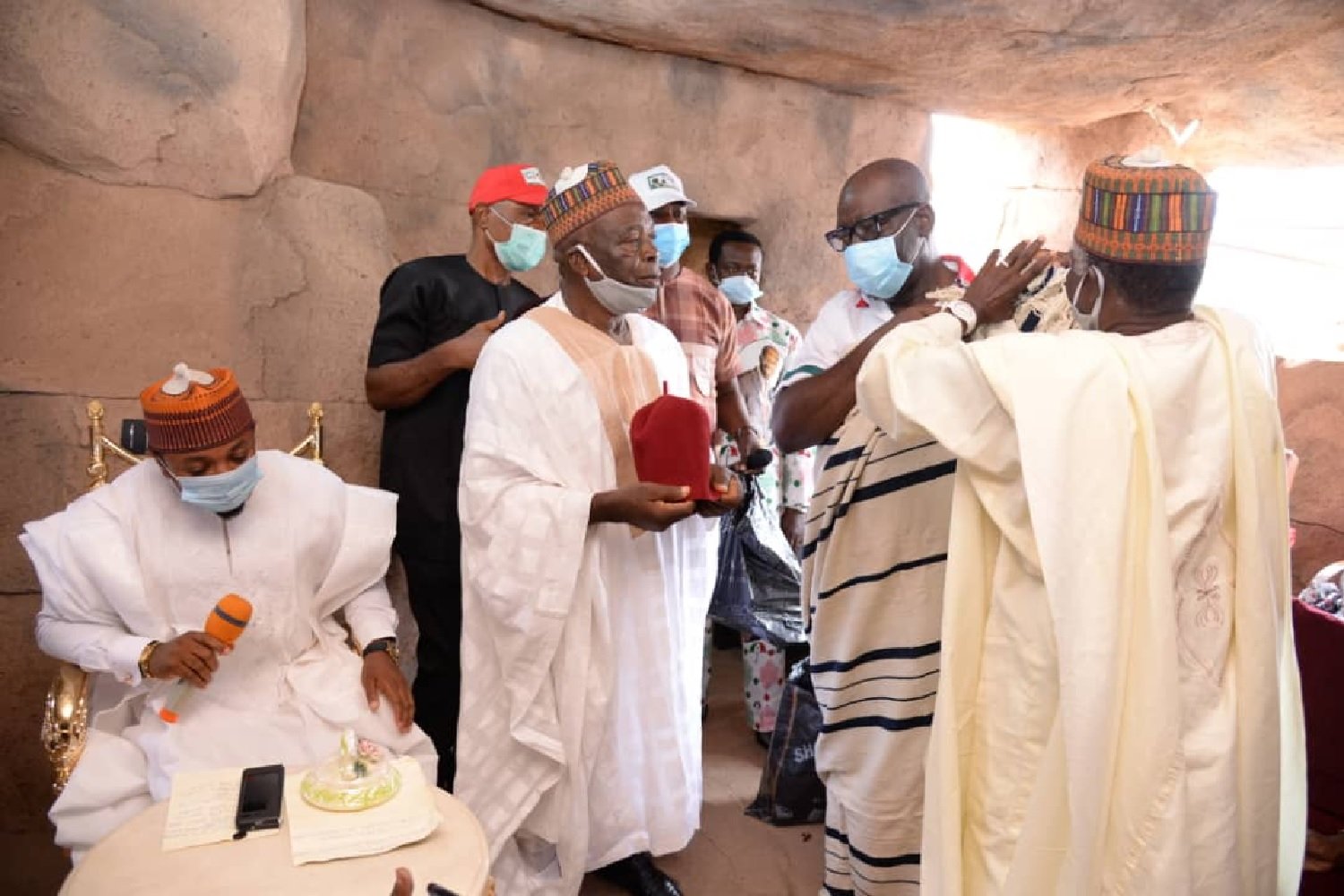 You've been crowned by God: Obaseki bags chieftancy title in Oshiomhole's LGA