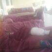 PHOTO: Police chain gunshot victim to bed over Enugu killings