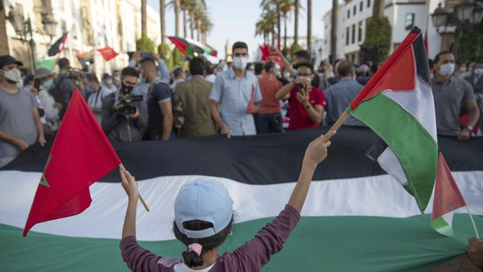 Morrocans protest against Israel normlisation agreements
