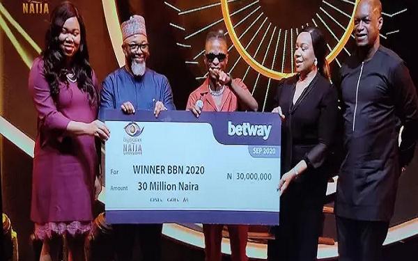 BBNaija: Laycon receives N30m cash prize, others