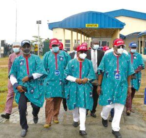 PHOTOS: Tinubu in Ondo for Akeredolu's re-election campaign rally