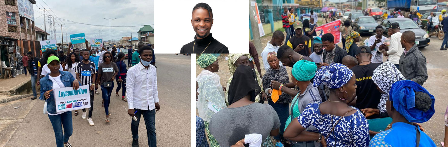 BBNAIJA: Ogun youths match for Laycon, give out airtime for voting