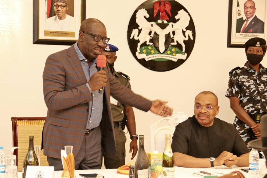 Obaseki on a 'Thank You' visit to Akwa Ibom
