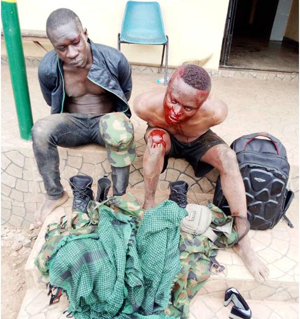 Police arrest 2 suspected fake soldiers in Ogun