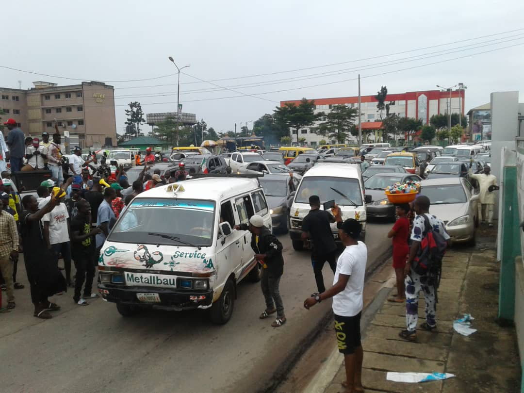 Moment of victory: PDP supporters celebrate Obaseki's reelection on the streets of Edo (PHOTOS)