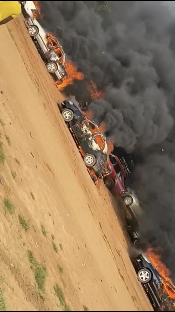 EndSARS: Hoodlums set ablaze over 50 cars in Apo Abuja