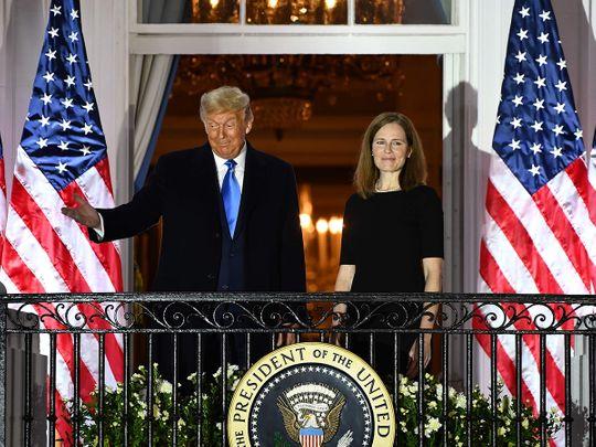 Trump hails 'momentous day' as Barrett becomes US Supreme Court judge