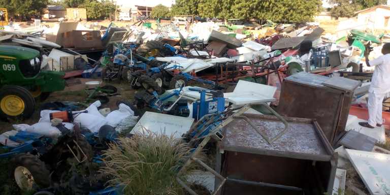 """The committee set up by the Adamawa government to recover property looted by hoodlums during the EndSARS protest has recovered majority of the items, its Chairman, Alhaji Ahmad Bashir, has said. Bashir, who is the Secretary to the State Government (SSG), disclosed this on Saturday in Yola while briefing newsmen on the success already recorded. He said that the damage caused by the looters was shocking. """"The looters dismantled tractors and harvesters. Their attrocities have taken us 10 years backward,"""" he said. The Chairman called on those in possession of looted items to hand them over to their respective Ward Heads, and commended Gov. Ahmadu Fintiri for the prompt action that led to the success recorded. According to him, a committee would soon be set up to identify owners of recovered hooted property. He explained that the Curfew imposed by the state government was in the best interest of the people, urging residents to abide by it. The News Agency of Nigeria (NAN), recalls that following the destruction and looting that trailed the protest, a 24-hour Curfew was imposed on Yola on Sunday. The Curfew has been reviewed and currently runs from 6:00 pm to 8 am. NAN reports that the hoodlums looted warehouses belonging to the state government, Nigeria Custom Service, Federal Road Safety, NEMA, NECAS and the Red Cross Society. Also looted were warehouses and property belonging to the Primary Healthcare Development Agency, Agricultural Development Project, among others. (NAN)"""