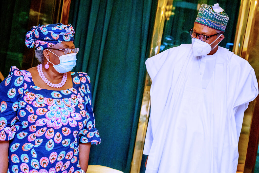 PHOTOS: Buhari receives in audience Former Finance Minister Ngozi Okonjo-Iweala