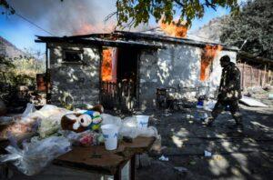 Armenian villagers burn houses ahead of Azerbaijan takeover