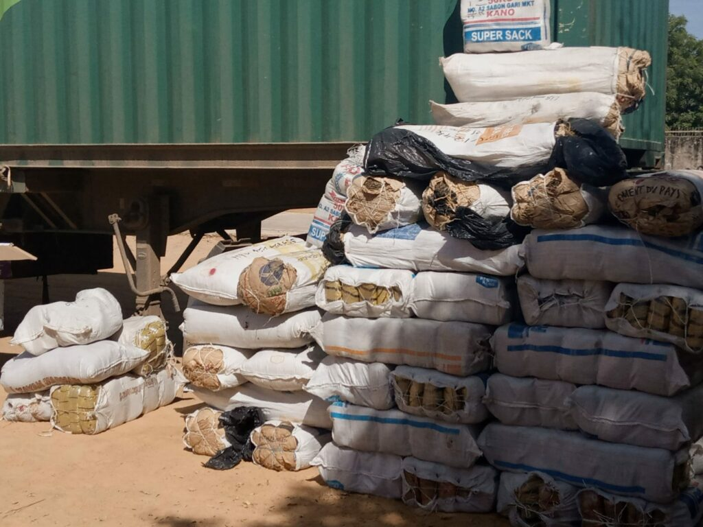 NDLEA arrests two-time female convict with 576kg of cannabis sativa