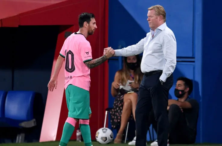 Koeman: Barca will do everything to keep Messi