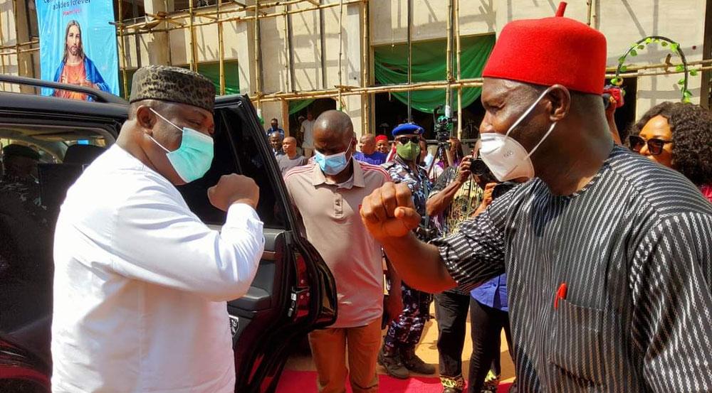 Enugu community, Senator Utazi hosts Ugwuanyi