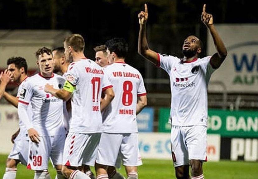 Osa Okungbowa scores in VfB Lübeck away win